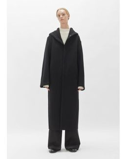 Wool Hooded Big Coat