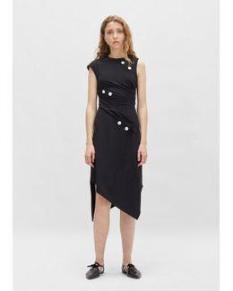 Satin Sable Asymmetrical Dress