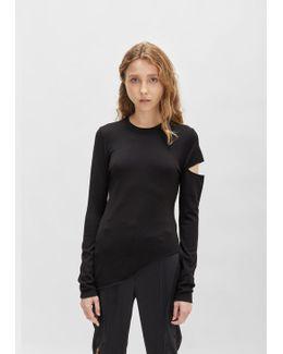 Merino Viscose Asymmetrical Sweater