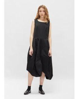 Wool Barathea Asymmetrical Dress