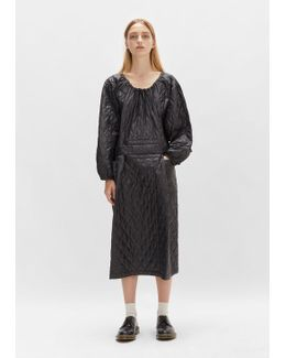 Nylon Taffeta Quilted Dress
