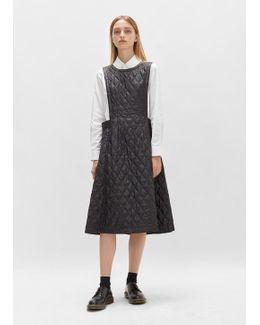 Nylon Taffeta Quilted Apron Dress