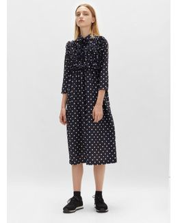 Polyester Broad Dot Print Dress