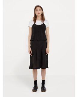 Crinkled Strappy Overlay Dress