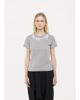 X Jupe By Jackie Pearl Embroidery Tee