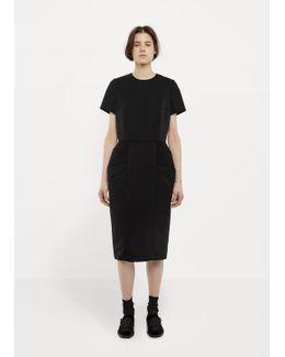 Short-sleeve Peplum Dress
