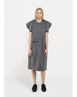 Tropical Wool Stripe Dress