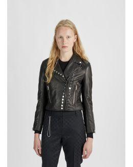 Cropped Sleeve Moto Jacket
