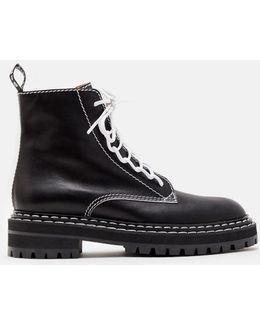 Lug Sole Calf Leather Boot