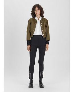 Bomber With Pearls