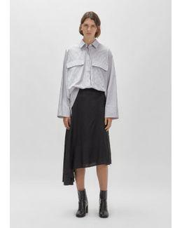 Bias-cut Midi Skirt