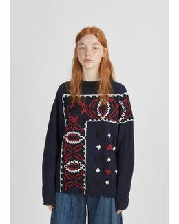 Bandana Pattern Pullover