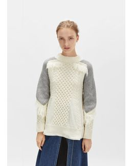 Knit Bi-color Pullover