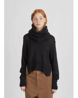Snood V-neck Sweater