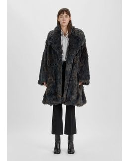 Melange Faux Fur Coat
