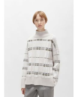 Abstract Float Plaid Turtleneck