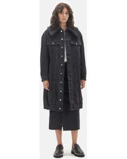 Sherpa Lined Denim Coat
