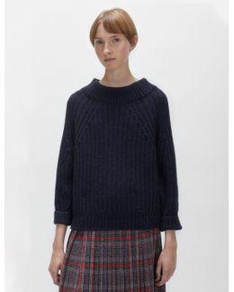 Alpaca Rib Pullover Sweater