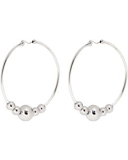 Large Sphere Hoop Earrings