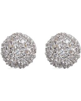 Cubic Zirconia Dome Stud Earrings