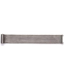 Diamond Silver Nine Row Chain Bracelet