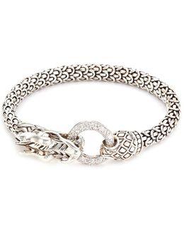 Diamond Silver Scaly Dragon Bracelet