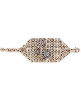 'radiant' Glass Crystal Star Mesh Bracelet