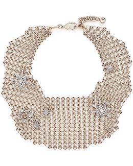 'radiant' Glass Crystal Star Mesh Bib Choker
