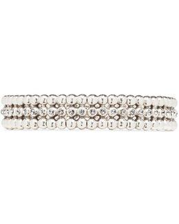 'meryl' Swarovski Crystal Bead Elastic Bracelet