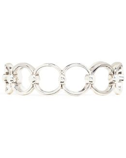 'alyssa' Silver Plated Cutout Link Cuff