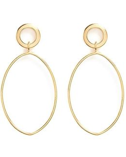 Oval Ring Drop Earrings