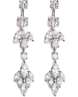 Cubic Zirconia Link Earrings