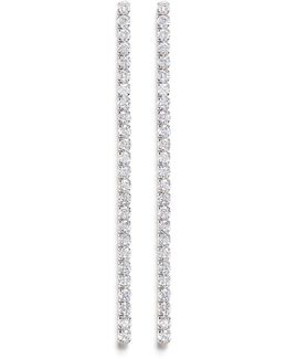 Cubic Zirconia Linear Link Earrings