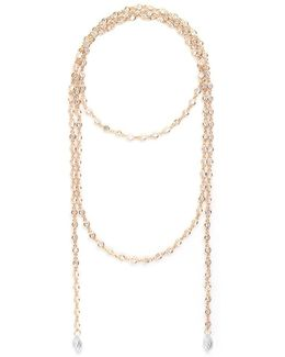 Bezel Set Cubic Zirconia Lariat Necklace