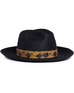 'guni' Sequinned Mountain Rabbit Furfelt Fedora Hat