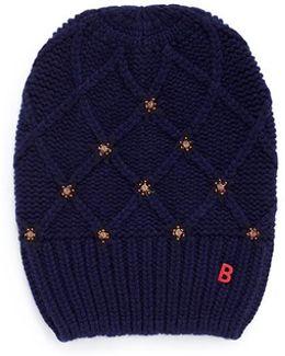 'bonnet Diamonds' Snow Star Cashmere Beanie