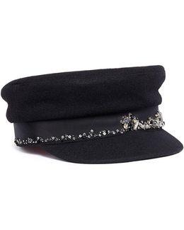 'stewart' Embellished Wool Boyish Cap