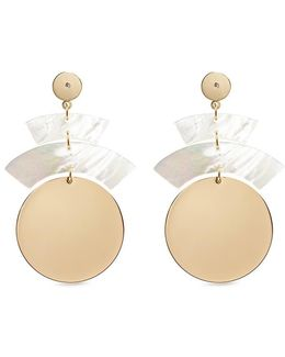'terri' Shell Plate Coin Drop Earrings