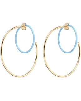 'rene' Colourblock Hoop Earrings