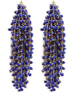 'simone' Beaded Curb Chain Fringe Earrings
