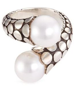 Freshwater Pearl Silver Bypass Ring
