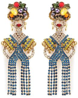'chiquita' Swarovski Crystal Woman Drop Earrings