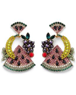 'fruit Salad' Swarovski Crystal Drop Earrings