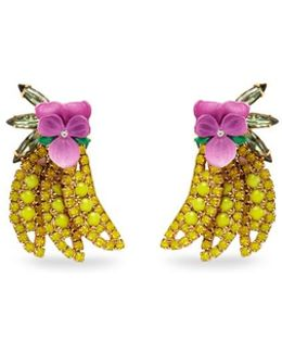 'banana' Swarovski Crystal Earrings