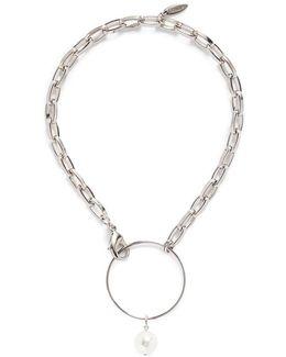 Swarovski Pearl Hoop Chunky Chain Choker