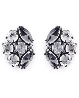 'diamanda' Glass Crystal Cluster Stud Earrings