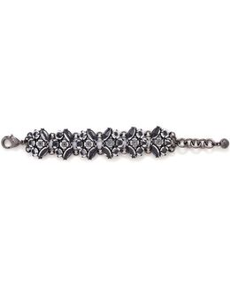 'diamanda' Glass Crystal Cluster Chain Bracelet