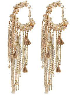 'risveglio' Tassel Chain Hoop Earrings