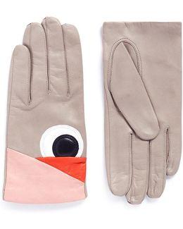'volatile' Eye Patch Lambskin Leather Gloves