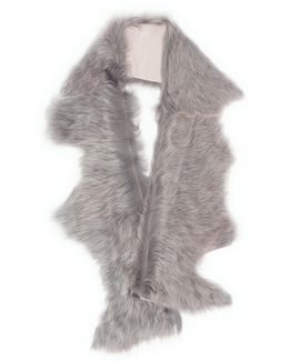 Staggered Toscana Lambskin Shearling Button Scarf